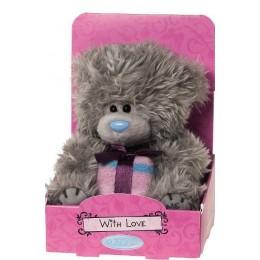 Мишка Тедди Me to you держит подарок 13 см (G01W2898)