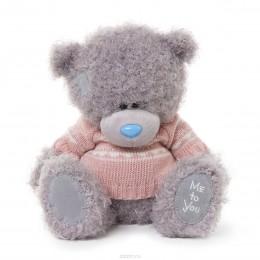 Мишка MTY в розовом вязаном свитере 25 см (G01W3271)