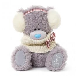 Мишка Teddy в манишке и наушниках 25 см (G01W3367)