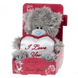 Мишка MTY с белым сердцем I Love You 13 см (G01W2866)