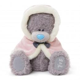 Мишка Митую в розовой накидке с капюшоном 30 см (G01W3279)