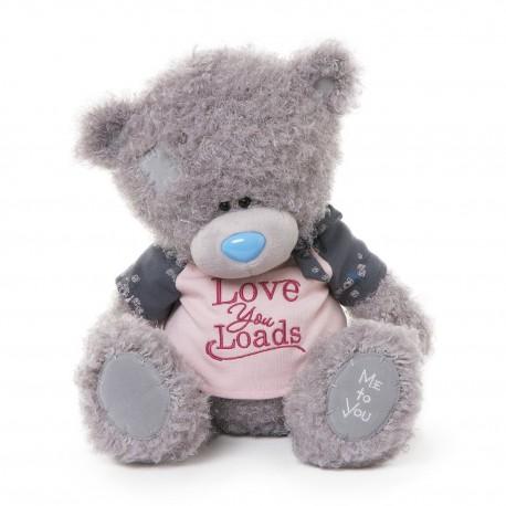 Мишка Ми ту ю в розовой футболке Love You Loads 30 см (G01W3266)