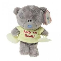 Мишка Тедди в жёлтой футболе с присосками в машину Baby on board 15 см (G92W0086)