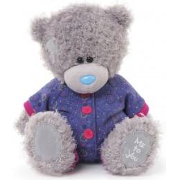 Мишка Me to you в фиолетовом комбинезоне 20 см (G01W3270)