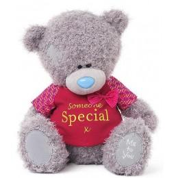 Мишка MTY с бантиком в красной футболке Someone special 30 см (G01W3509)