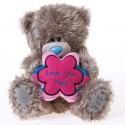 Мишка Митую держит подушку-цветок Love You Mam 13 см (G01W2784)