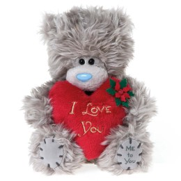 Мишка Митую с красным сердцем I Love You 13 см (G01W2747)