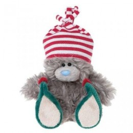 Мишка-Эльф MTY в смешных туфлях и шапочке 13 см (G01W2825)