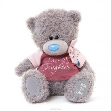 Мишка Teddy в розовой футболке Lovely Daughter 20 см (G01W3290)