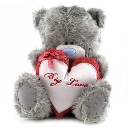 Мишка Ми ту ю с белым сердцем Big Love 30 см (G01W2879)