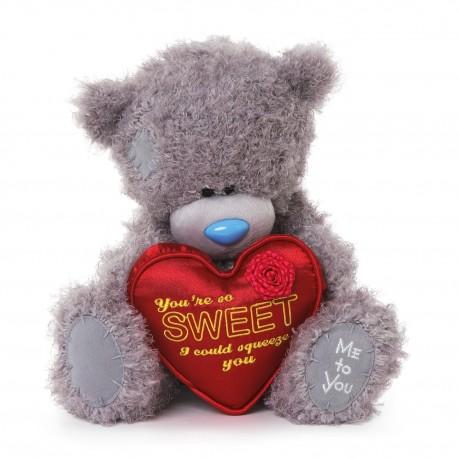 Мишка Teddy с красным сердцем You're so SWEET 25 см (G01W3350)