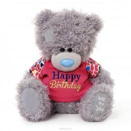 Мишка Митую в футболке Happy Birthday 20 см (G01W3551)