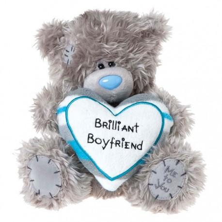 Мишка Me to you с белым сердцем Brilliant Boyfriend 20 см (G01W2780)