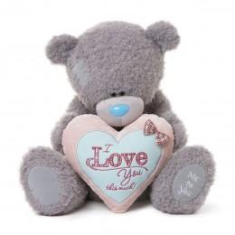 Мишка Teddy с розово-голубым сердцем I Love You This Much! 70 см (G01W3276)