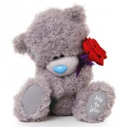 Мишка Тедди Me to you с красной розой 25 см (G01W3494)