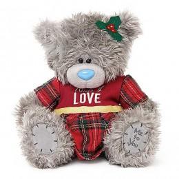 Мишка Тедди в красном платье 23 см (G01W3650)
