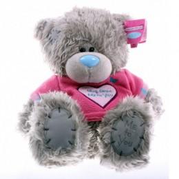Мишка Тедди Me to you в розовой футболке с сердцем Hugs from Me to You 23 см (G01W3044)