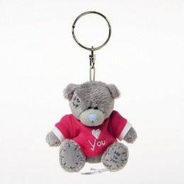 Брелок Мишка Тедди в красной футболке I love you 7,5 см (G01W3007)