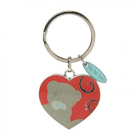 Брелок для ключей Мишка Тедди в форме сердца (G01K0180)