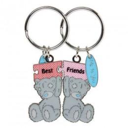 Брелок для ключей двойной Мишка Me to you держат пазл (G91K0057)