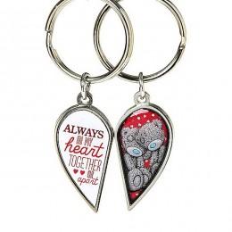 Брелок для ключей двойной Мишка Тедди Me to you в виде половинок сердца (G01K0217)