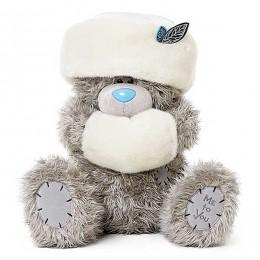 Мишка Me to you в белой шапочке и муфте на лапках 51 см (G01W3775)