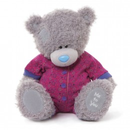 Мишка Тедди Me to you в малиновом комбинезоне  40 см (G01W3275)