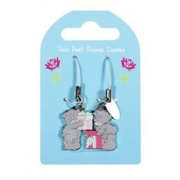 Брелок для моб. тел. двойной Мишки Тедди с подарками (G01Q0339)