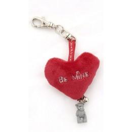 Брелок с меховым сердцем и Мишкой Me to you Be Mine (GYK0094)