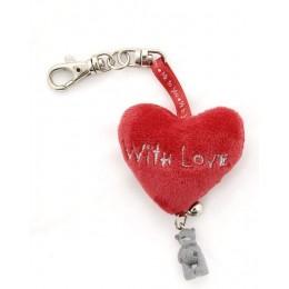 Брелок-подвеска сердце и Мишка Митую With Love (GYK0091)