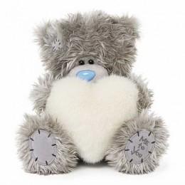 Мишка Ми ту ю с меховым сердцем в руках 20 см (G01W3799)