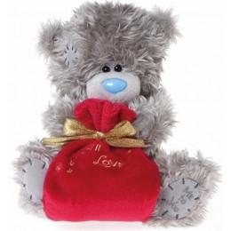 Мишка Тедди Me to you держит мешок Санты 20 см (G01W2752)