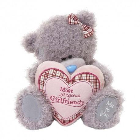 Мишка MTY держит сердце Most gorgeous Girlfriend 25 см (G01W3265)