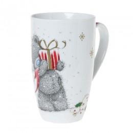 Новогодний подарочный набор: кружка и носки Мишка Тедди с подарком (G01G0261)