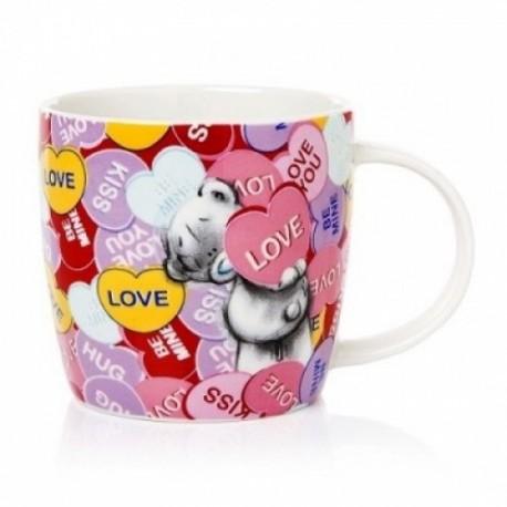 Чашка Мишка Тедди с сердечками Love, hugs, kiss, be mine (G91M0030)