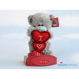 Мишка Тедди с тремя сердцами 15 см (G01W1725)