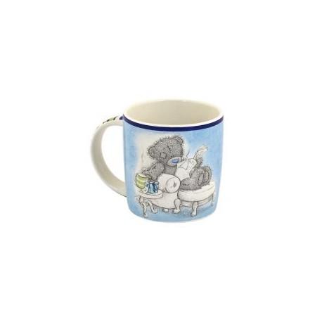 Синяя чашка Мишка Тедди читает газету Самый лучший папочка (0665.405/4)