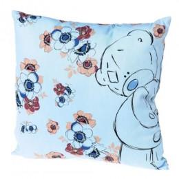 Подушка голубая с Мишкой Teddy (G01Q6115)