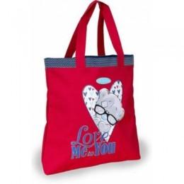 Красная сумка с Тедди в очках Love Me to You