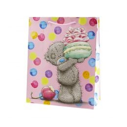 Подарочный пакет Мишка угощает пироженым