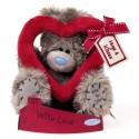 Мишка Теддик MTY с красным сердцем 18 см (G01W1912)