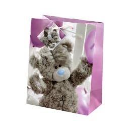 Маленький подарочный пакет Мишка Тедди с воздушными шарами