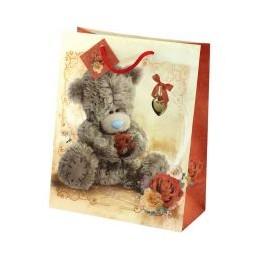 Подарочный пакет Мишка Тедди с розой