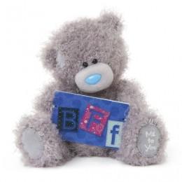 Мишка Тедди с синей табличкой BFF 18 см (G01W3284)