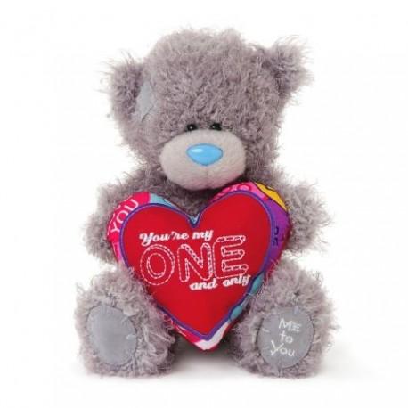 Мишка Teddy держит сердце с надписью You're my one and only 18 см (G01W3354)