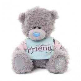 Мишка Митую в голубом свитерке с розовыми рукавами SPECIAL FRIEND 18 см (G01W3370)