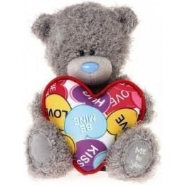 Мишка Митую держит сердце 18 см (G01W3357)