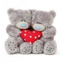 Пара мишек MTY держащих сердце 10 см (G01W3808)