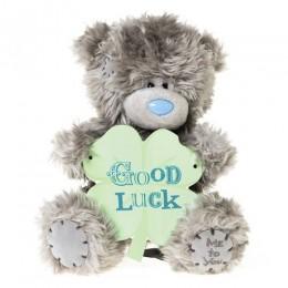 Мишка MTY с листочком с надписью Good Luck 18 см (G01W3171)