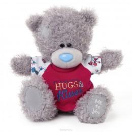 Мишка Тедди в красной футболочке Hugs & Kisses 20 см (G01W3437)